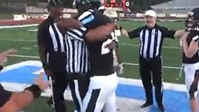 Army dad dresses as referee, surprises son at football game