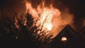 North Dallas couple escapes intense house fire