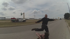 Video shows Dallas paramedic punching, kicking homeless man