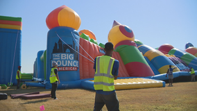 World's biggest bounce house makes a stop in North Texas