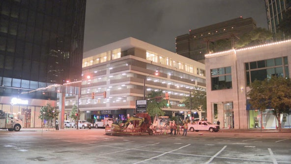 Damaged gas line forces evacuations in downtown Fort Worth