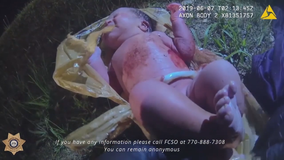 Body-cam video released of baby found abandoned in woods