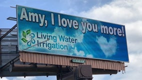 Man declares love for wife on 8 local billboards: 'Amy, I love you more!'
