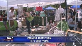 Parking spots turn into mini-parks in Buckhead