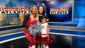 Atlanta Falcons cheerleaders welcome youth to join their Junior Cheer Program