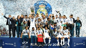Real Madrid wins 3rd straight European title with 2 goals from Bale