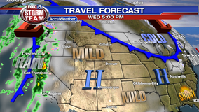 Travel weather forecast for Wednesday