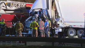 1 killed in I-20 accident involving fire truck, tractor-trailer