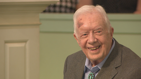 Jimmy and Rosalynn Carter return to church after COVID-19 vaccinations