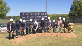 Groundbreaking for new Falcons' clinic in Flowery Branch