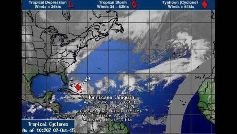 Hurricane Joaquin on Oct-408795. 2, 2015