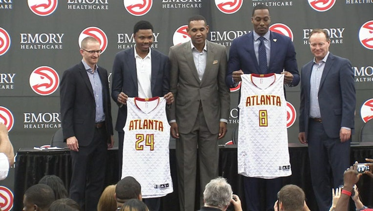 HAWKS DWIGHT HOWARD KENT BAZEMORE GRANT HILL WES WILCOX MIKE BUDENHOLZER