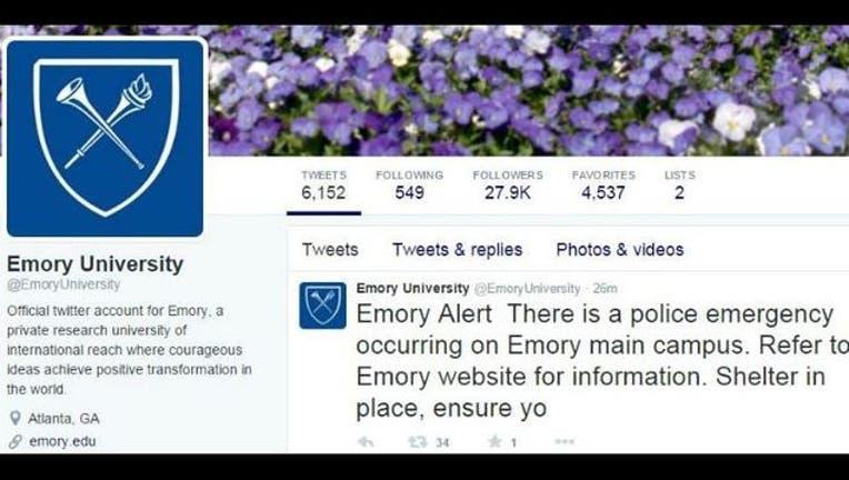 Police emergency on Emory University's campus