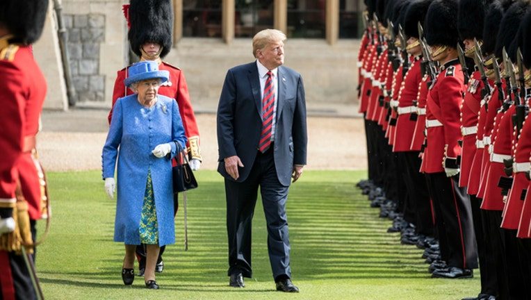 GETTY Trump and the Queen-404023