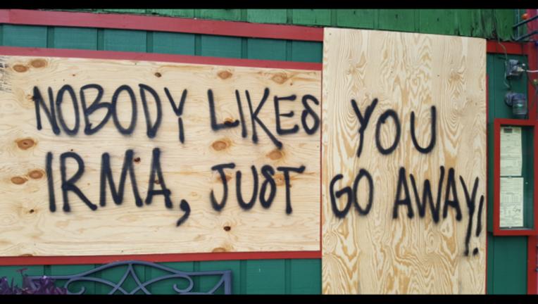 nobody likes you irma sign-402429