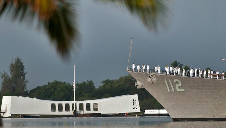 USS Arizona Memorial by U.S-404023. Navy Mass Communication Specialist 3rd Class Diana Quinlan