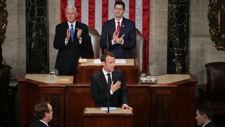Macron addresses Congress (GETTY IMAGES)-401720