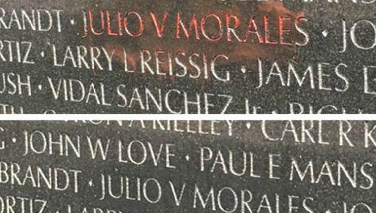 Vietnam Memorial vandalized-401720