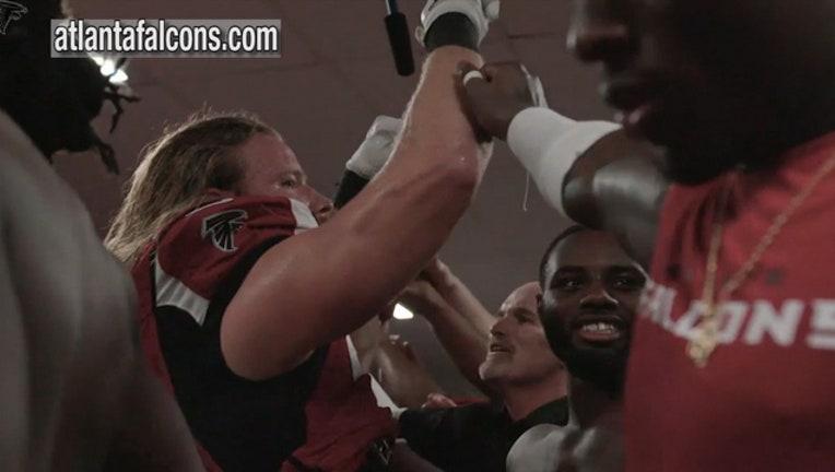 Falcons locker room