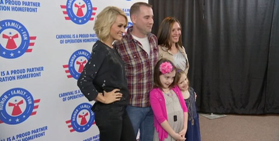 Singer Carrie Underwood Surprises Military Family