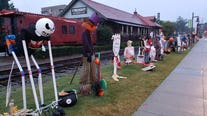 Scarecrows invade Woodstock for annual fundraiser