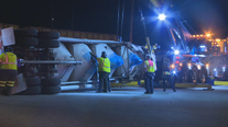 Police: Tractor-trailer struck by train in Union City