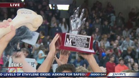 Hand Trophy given to Haralson County Rebels