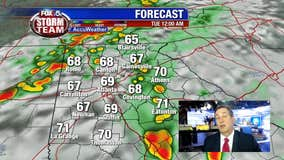 Expect showers and storms overnight