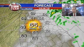 Expect showers and storms overnight into Tuesday morning