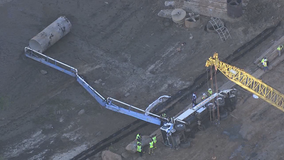 Concrete boom overturns near Lake Acworth