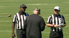Falcons try to address penalties with full crew of officials