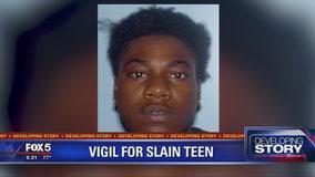 Vigil for slain teen