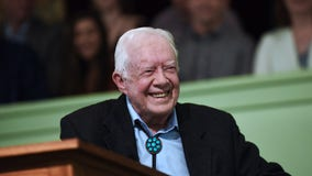 Jimmy Carter hospitalized after falling at home