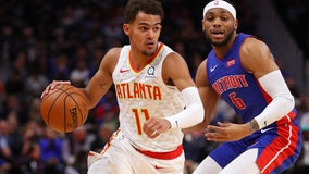 Trae Young has 38 points, Hawks beat Pistons 117-110