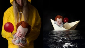 Newborn transformed into Pennywise for 'It'-themed photo shoot