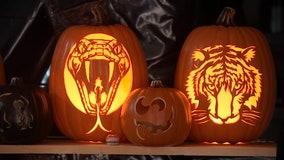Oregon man turns pumpkin carving hobby into Halloween art display