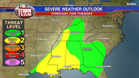 Severe storms possible early Tuesday morning