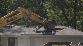 Officials demolish DeKalb County home as part of sewer repair
