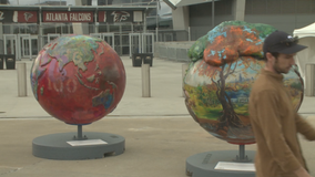 Cool Globes exhibit at Mercedes-Benz Stadium