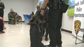 South Fulton police swear-in 2 new K-9 officers