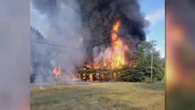 Historic Walton County schoolhouse catches fire