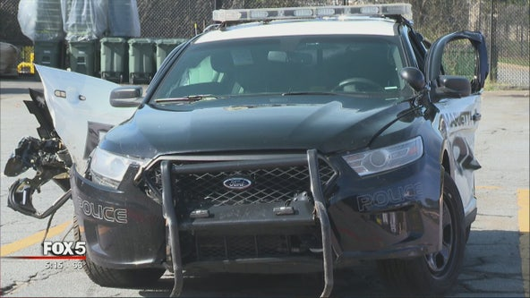 2 Marietta officers nearly slammed by driver on I-75
