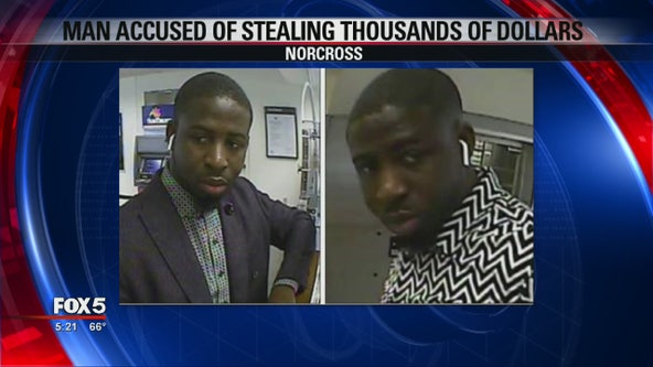 Search for man accused of stealing thousands of dollars