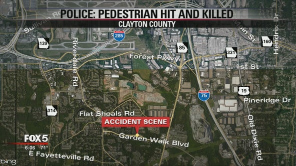 Police: Pedestrian hit and killed in Clayton County