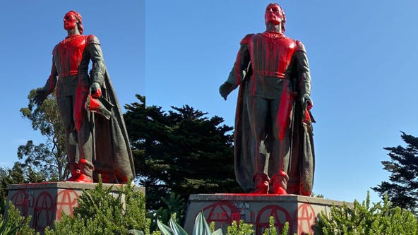 'Stop celebrating genocide': Christopher Columbus statues vandalized in California, Rhode Island