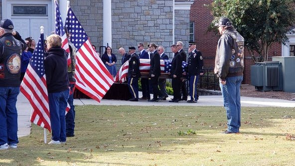 Funeral held for Army Master Sgt. Mark Allen