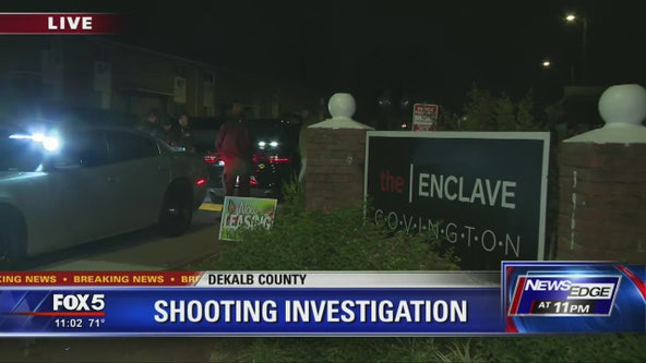 Police investigate shooting a DeKalb County apartment complex