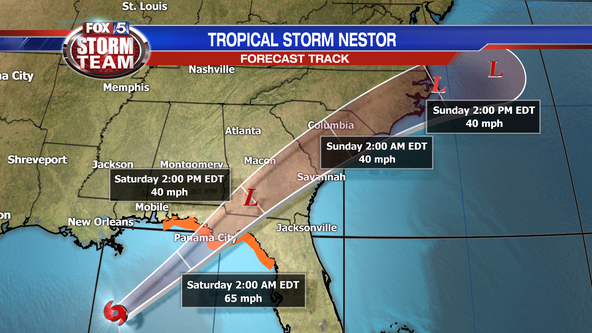 Tropical Storm Nestor to impact Georgia's weather this weekend