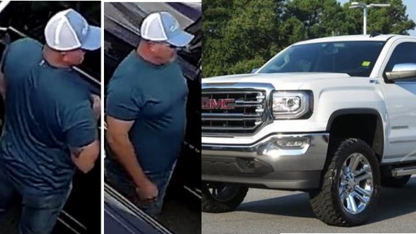 Police: Suspect wanted for truck theft at dealership