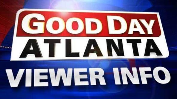 Good Day Atlanta viewer information Oct. 21, 2019